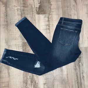 KanCan Destroyed Frayed Hem Skinny Jeans Size 9